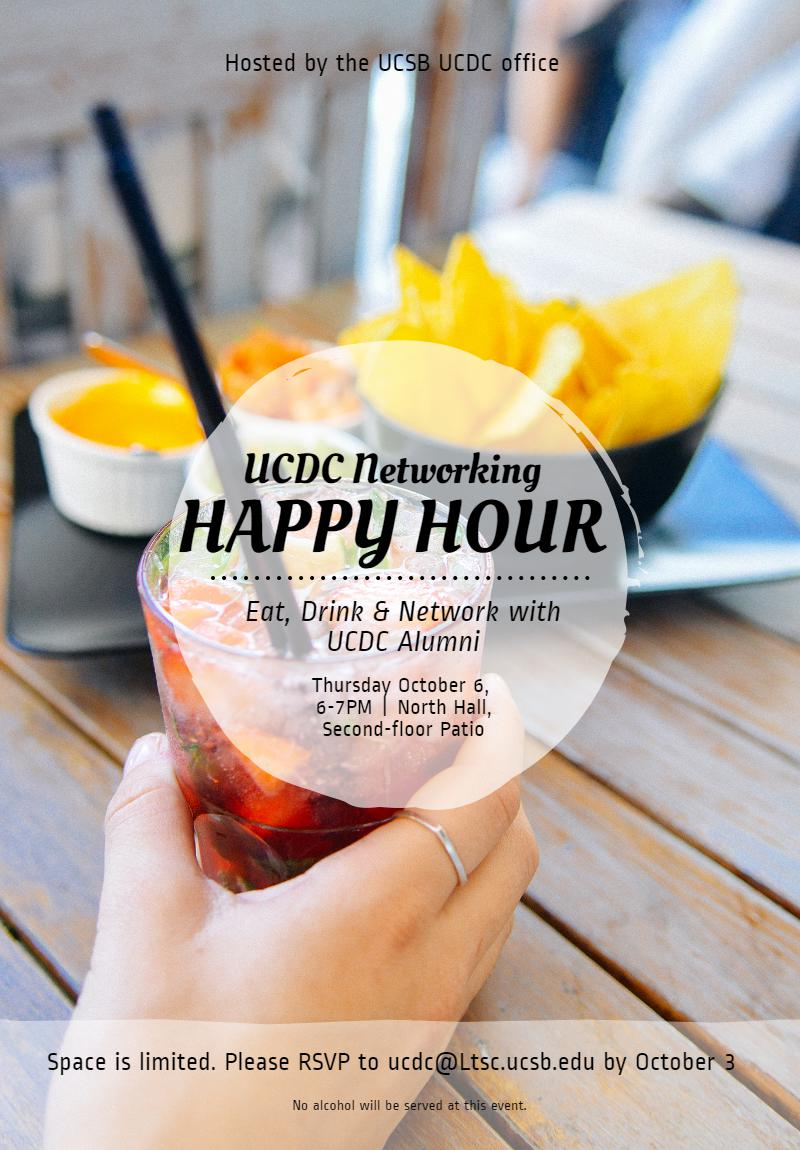 ucdc networking happy hour division of undergraduate education ucdc networking invitation