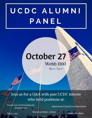 UCDC Alumni Panel Flyer